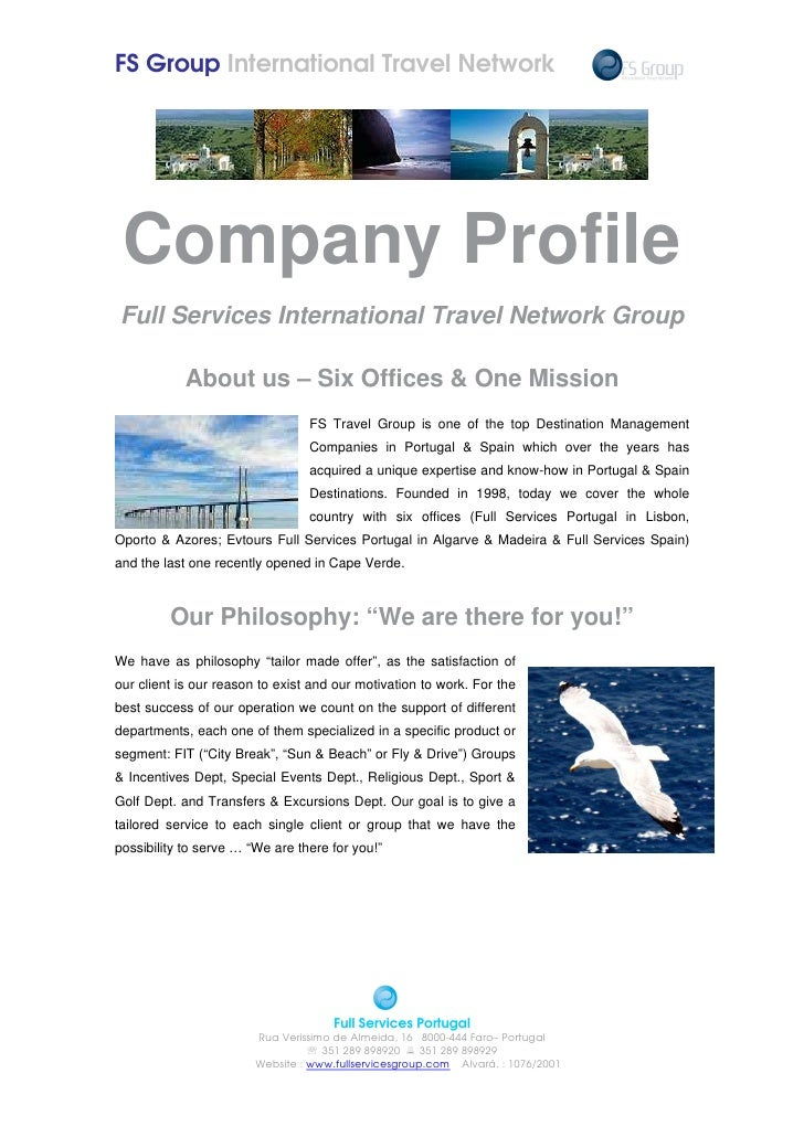 FS Group International Travel Network      Company Profile Full Services International Travel Network Group              A...