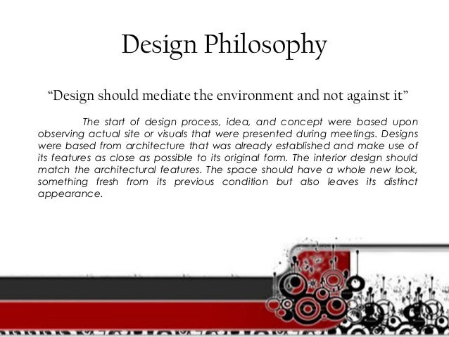 Design philosophy interior design images for Philosophy design