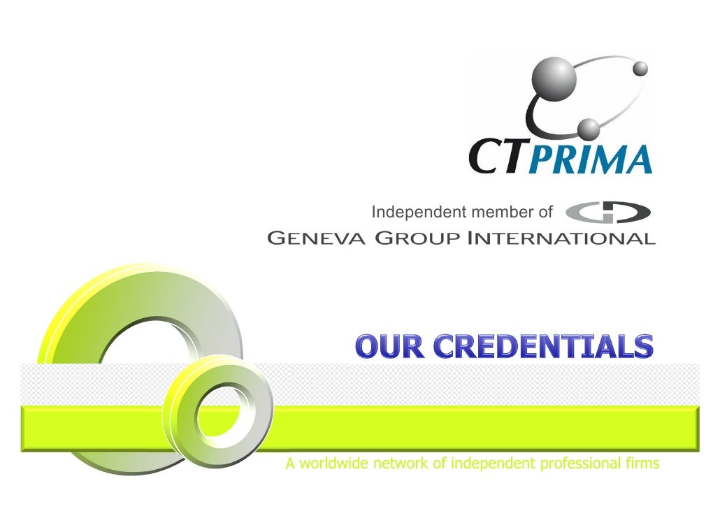 Independent member ofA worldwide network of independent professional firms