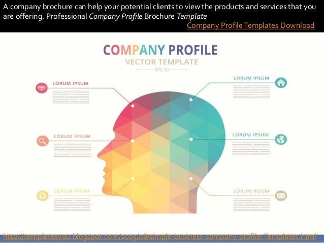 Company profile templates for Company profile brochure template