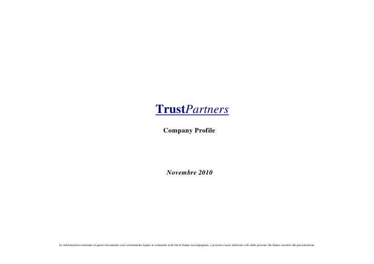 TrustPartners                                                                                  Company Profile            ...