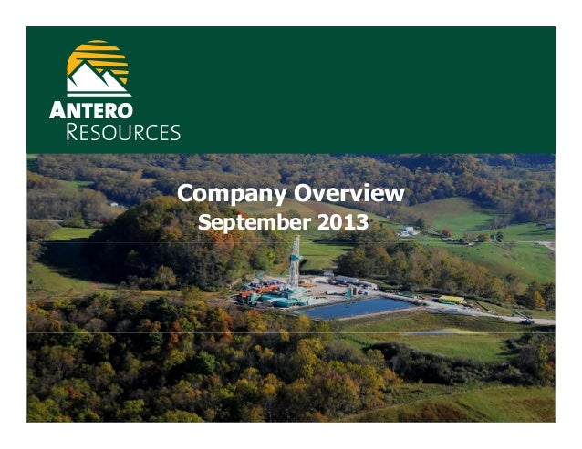 Company Overview September 2013