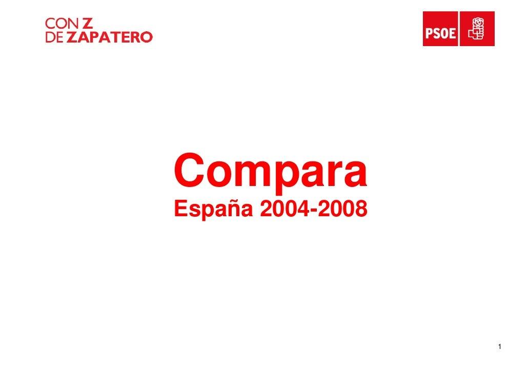 Compara España 2004-2008                        1