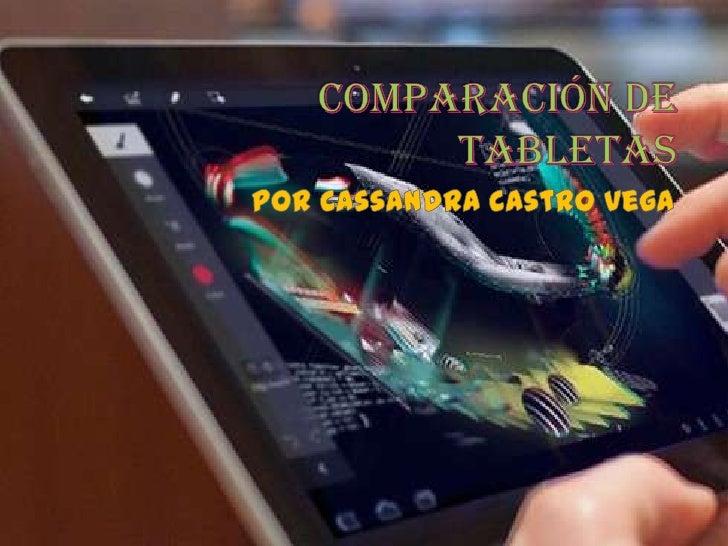Comparación de tabletas
