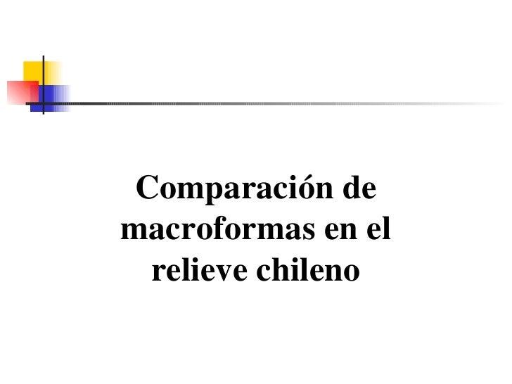 Comparación de macroformas en el relieve chileno