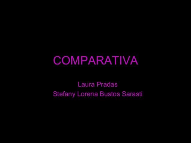 COMPARATIVA Laura Pradas Stefany Lorena Bustos Sarasti buitre@labuitrera.com