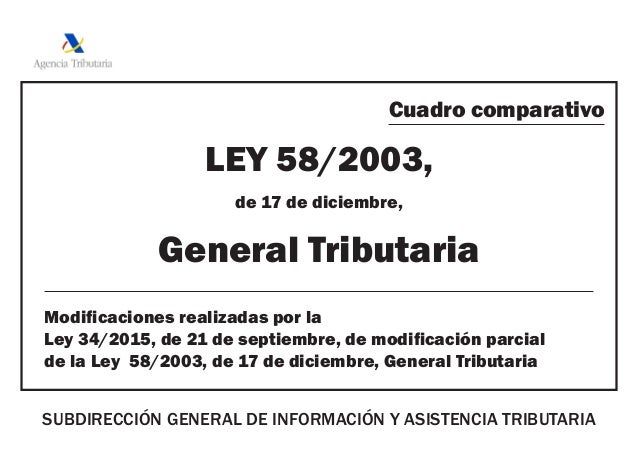 la ley 58 2003 de 17:
