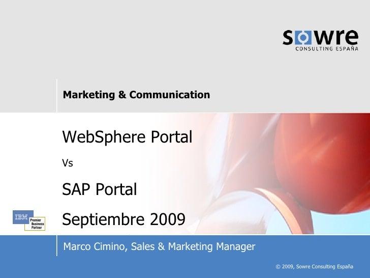 Comparativa WebSphere Portal vs. SAP Portal