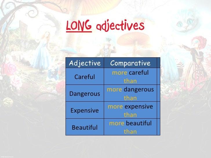 Comparative and superlative esl ppt