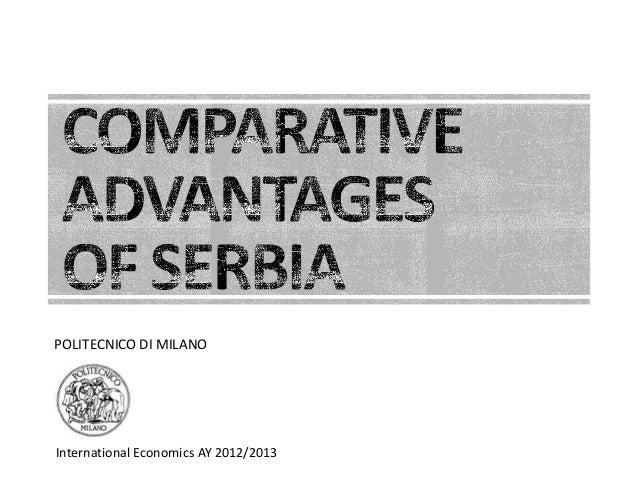 International Economics AY 2012/2013POLITECNICO DI MILANO