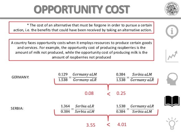 costs and opportunity cost Businesses use differential and opportunity costs to make critical decisions regarding financial matters for the short-term and the long-term differential and opportunity costs give managers tangible numbers with which to work when developing strategy.