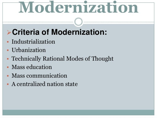 modernization and westernization essay