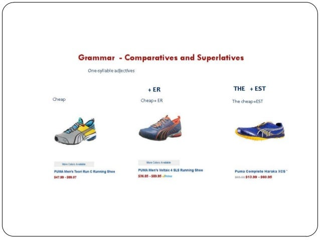Comparative And Superlative Degrees Of Adjectives Exercise