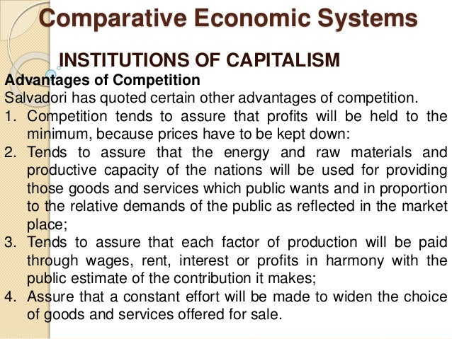 economic systems capitalism essay Capitalism and inequality  the rise of economic inequality and the scale of government intervention to address it  capitalism's intrinsic dynamism,.