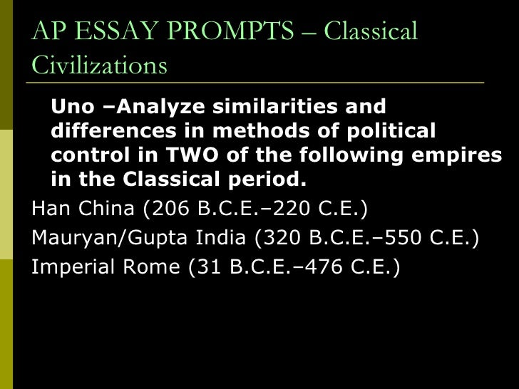 a comparison of han china and india essay The roman empire and the han dynasty of imperial china coexisted with parthia and kushan,  comparison takes on new significance.