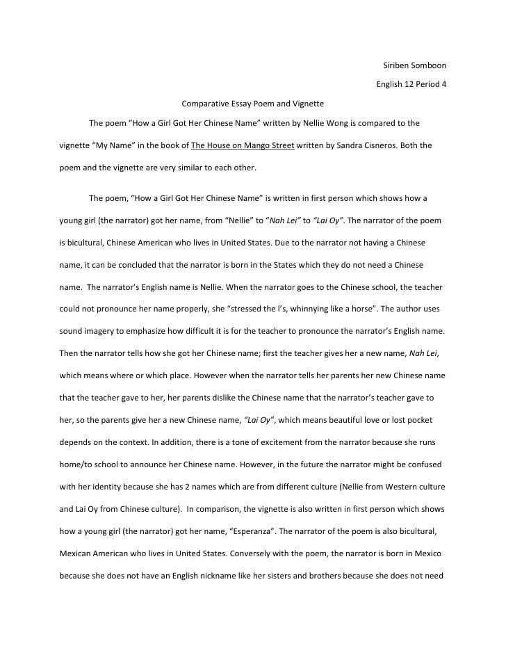 Comparative Essay Example Good Comparative Essay Introduction ...
