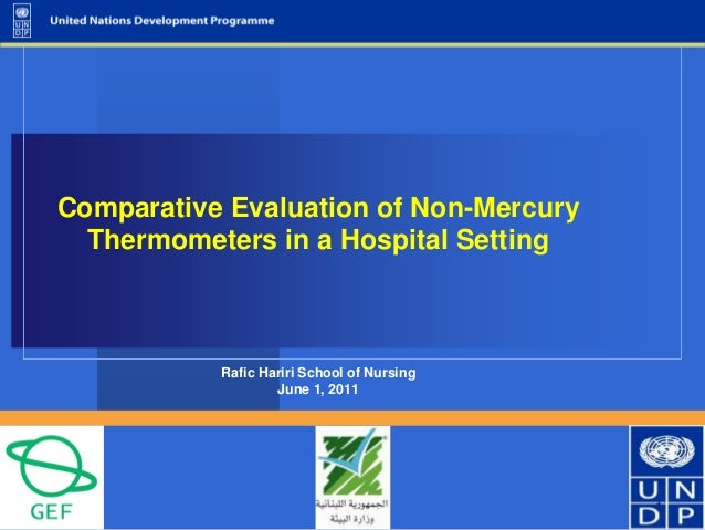 Comparative evaluation of non mercury thermometers in a hospital setting and healthcare staff preferences