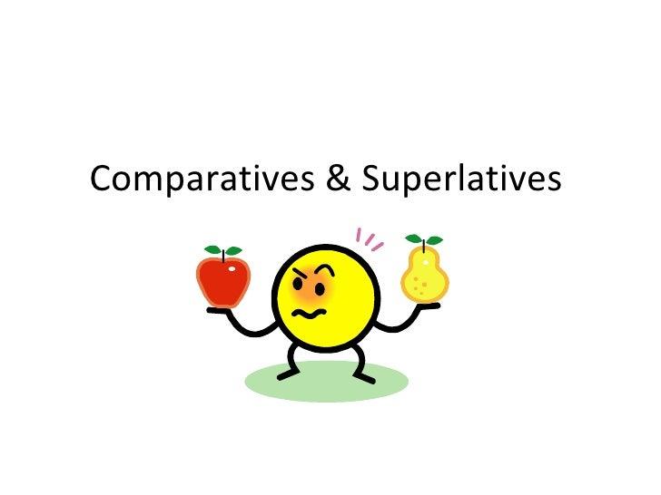 Comparatives superlativese excersises