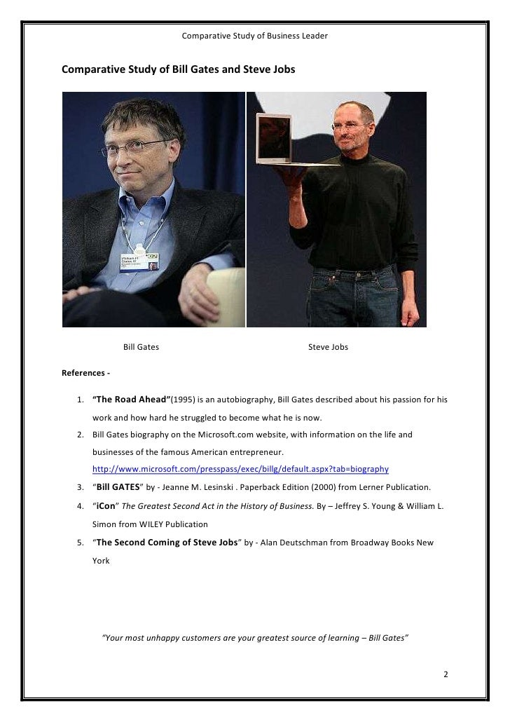 compare contrast the managerial practices of bill gates and steve jobs Leadership styles of bill gates and steve jobs in this assignment contrasting leadership style of bill gates and steve jobs has been compare and contrast.