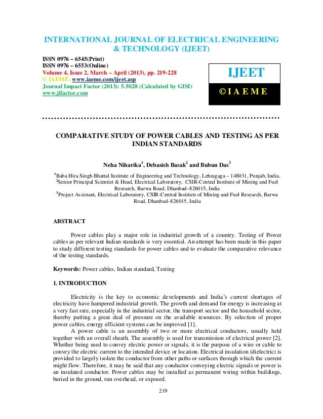 International Journal of Electrical Engineering and Technology (IJEET), ISSN 0976 –INTERNATIONAL JOURNAL OF ELECTRICAL ENG...