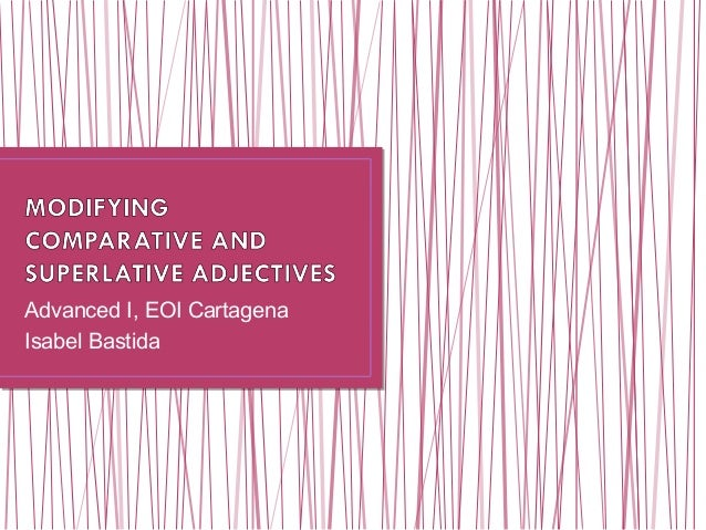 Comparative superlative adjectives