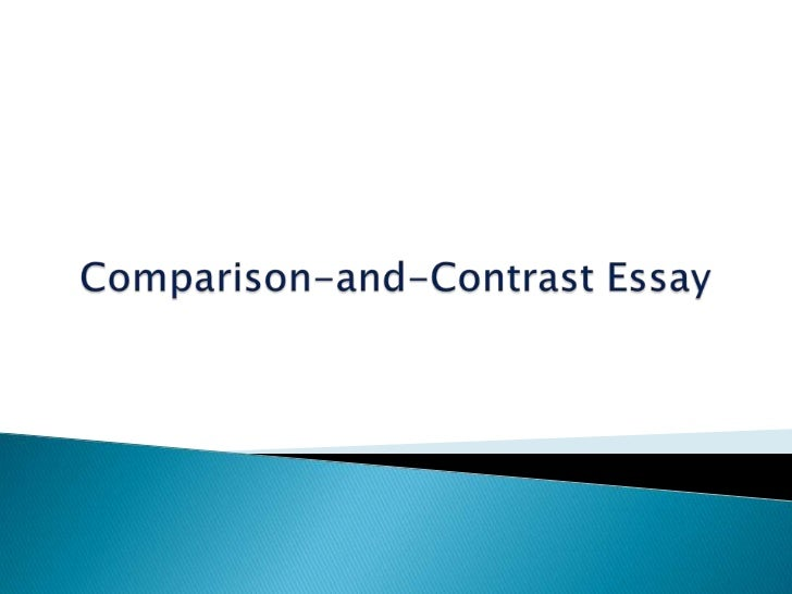 Compare and Contrast Expository Essays