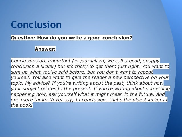 A good conclusion for an essay