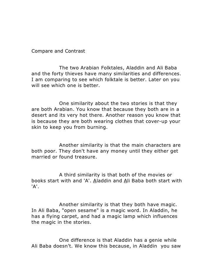 Compare and contrast-1