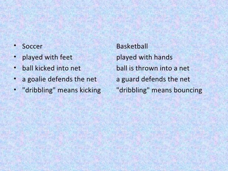 *Sports*Help me compare and contrast the sports volleyball and basketball.
