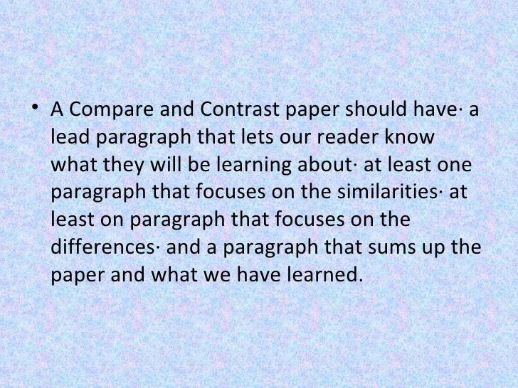 What are some good leads(in writing) for a summer and winter compare and contrast essay?