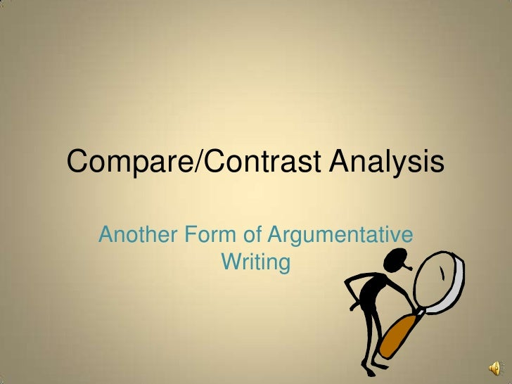 breakdown of a compare contrast essay