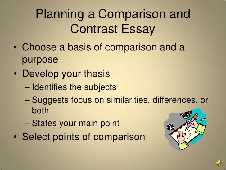 a good thesis compare and contrast The thesis for a comparison/contrast essay explains the essay's  of shoes may  not be the best topic if such comparisons are easy to see.