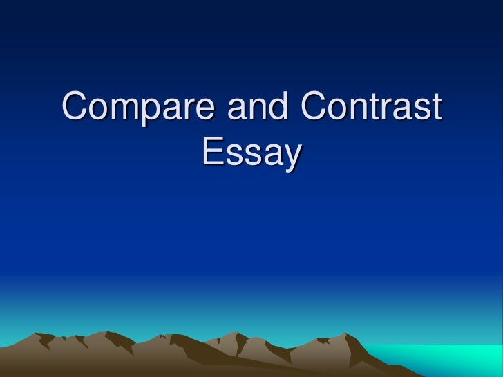 Compare Contrast Essays