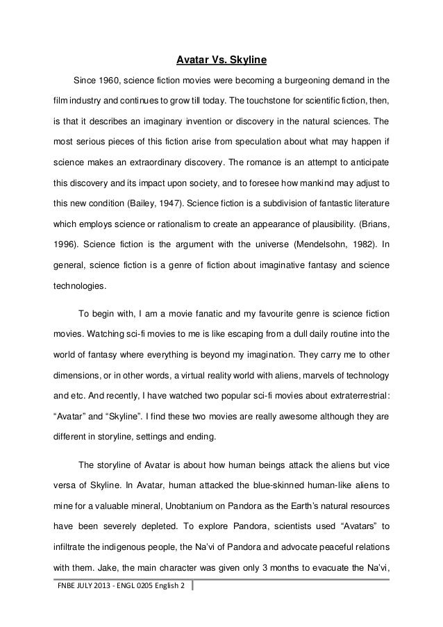 Global Warming Science Fiction Short Story - Essay