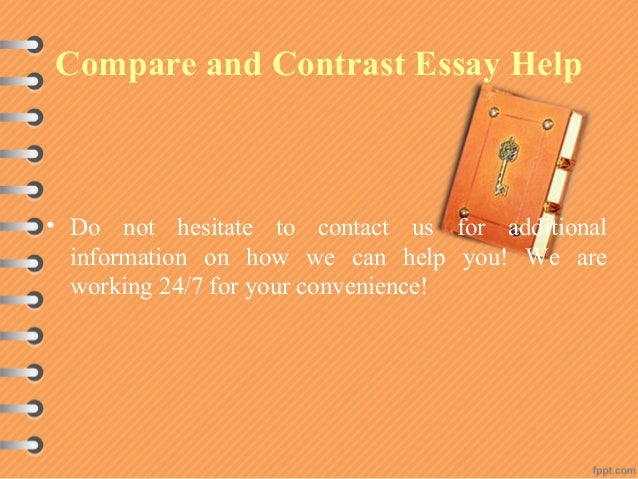 contrast comparison essay topic