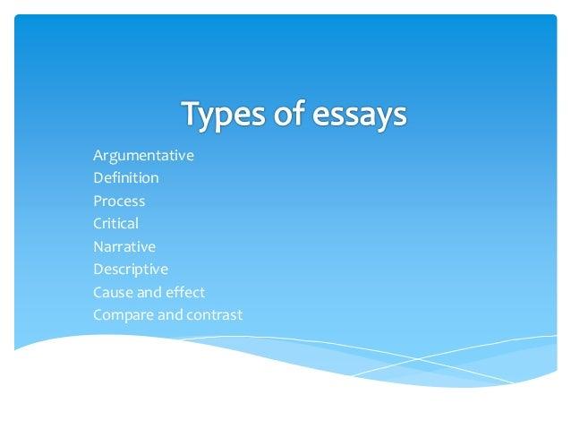 Define compare and contrast essay