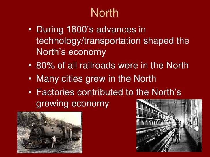 similarities between the north and the south during the 1800 s