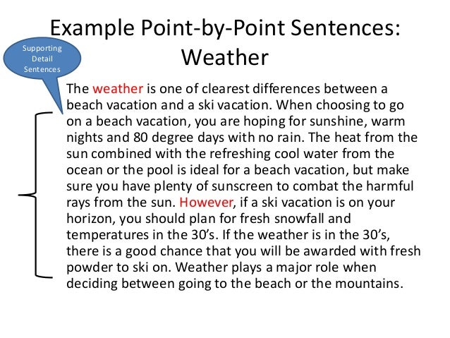 Some useful theory on a point by point compare and contrast essay