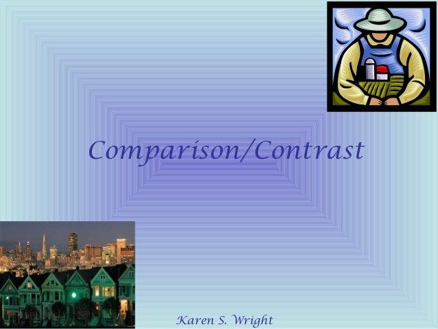 Comparison contrast essay powerpoint