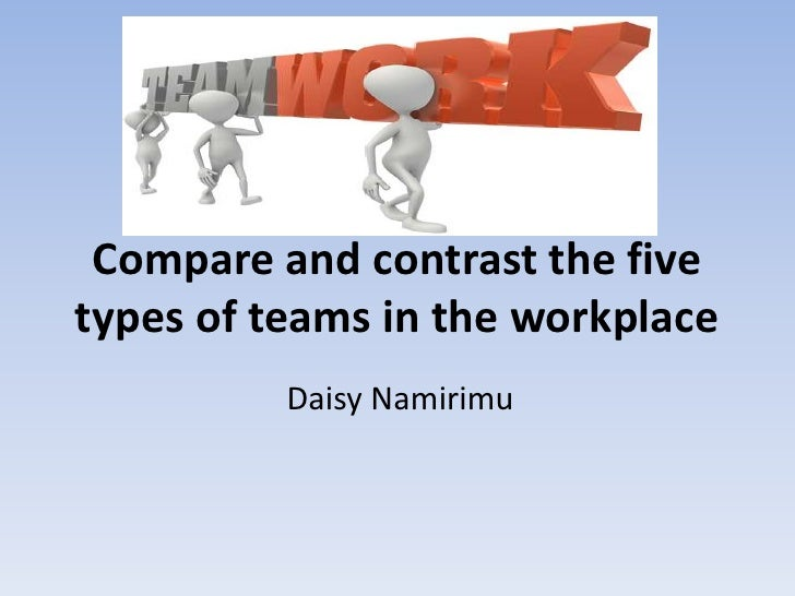 Compare and contrast the five types of teams Types of contrast
