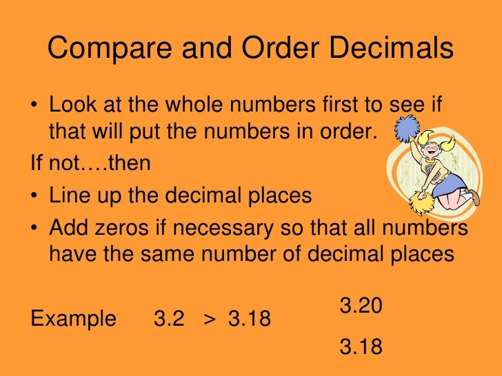 Pre School Worksheets ordering whole numbers worksheets 4th – Comparing Decimal Worksheet