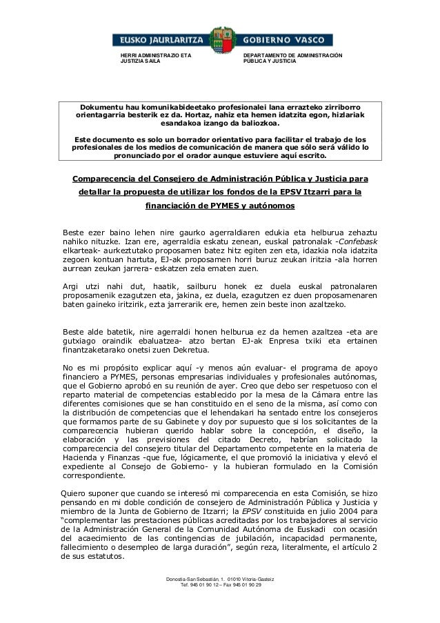 HERRI ADMINISTRAZIO ETA                         DEPARTAMENTO DE ADMINISTRACIÓN                JUSTIZIA SAILA              ...
