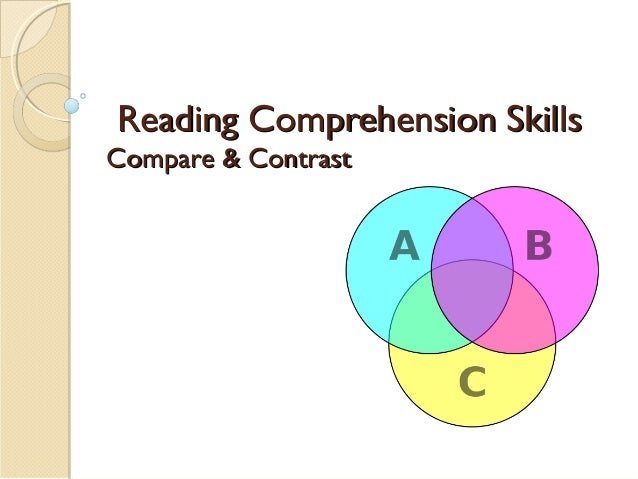 Reading Comprehension SkillsReading Comprehension Skills Compare & ContrastCompare & Contrast