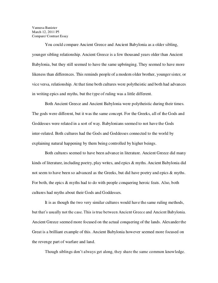 comparison and contrast essay outline examples speech essay  thesis statement generator for compare and contrast essay outline image 5