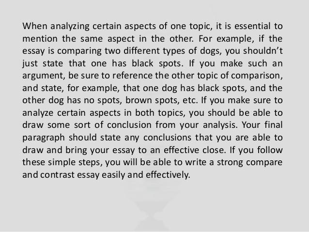 Comparison contrast essay assignment sheet