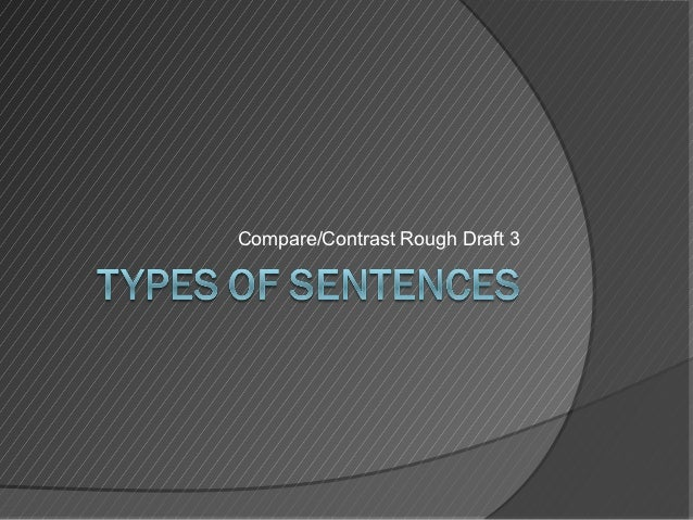 compare and contrast essay draft What the topic or argument of the essay is compare and contrast comparison/contrast template 2 thesis sentence templates 13.