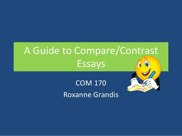 Compare and Contrast Essay Outline Example