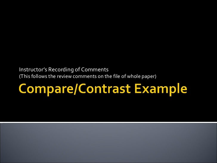 Instructor's Recording of Comments  (This follows the review comments on the file of whole paper)