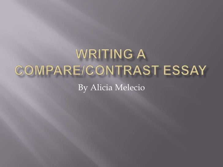teaching compare and contrast essay