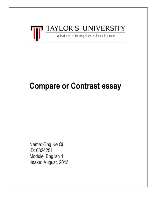 compare n contrast essay